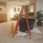 Trash Bins in Lobby