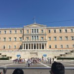 Syntagma square from the city sightseeing bus