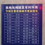 Time table from Feng Mei line