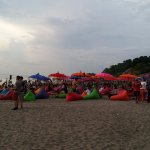 Beanbags in the sand