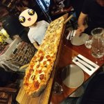 The metre-long pizza.