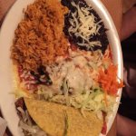 Taco/enchilada combination platter