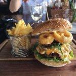 A mountainous and delicious burger!