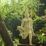Statue of Prince Siddartha in gardens of hotel