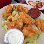 fried shrimp caesar salad