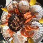 Carpaccio de saint jacques crevettes