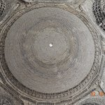 The cupola brickwork inside the dome of the Mausoleum