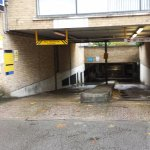 Entry lane to underground parking. Approach straight or you will damage your car.
