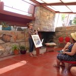 Our tour guide at Taliesin West