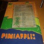 Drink menu.