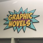 Chicago Public Library Graphic Novels Sign