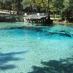 Large Blue Spring boil at Gilchrist Blue Springs State Park