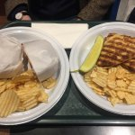 Salmon sandwich and cuban one