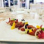 insalata di tonno, finocchi, arance e cipolla rossa di tropea