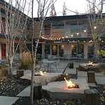 The Modern Courtyard in late Fall. Photo by Polly Evett.