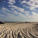 Car Tracks On The Sand