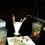 Mojito fraise au bar de l'hotel