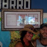 Me and my wife, inside in front of american pickers photo