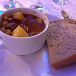 Goulash soup (buffet) at the dinner cruise