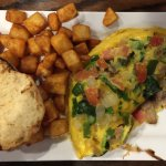 Vegetarian Omelette with English Muffin