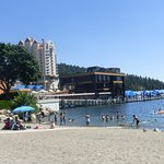 Beach with view to Coeur d'Alene Resort