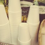 Styrofoam cups! Please replace with paper!
