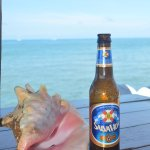 Cold Beer Conch and a Great view