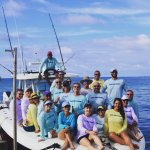 Roatan Island Charters Group Shot on the Wasted Seamen