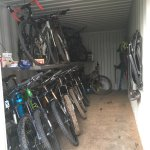 Secure bike storage (steel shipping container)