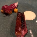 Duck breast, persimmon & radicchio