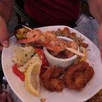 Garlic prawn meal, our return to The Beachcomber, 1 Forks Market, Winnipeg, Manitoba