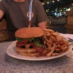 Giant burger option, our return to The Beachcomber, 1 Forks Market, Winnipeg, Manitoba