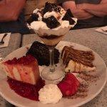 Dessert platter for all the birthdays, our return to The Beachcomber, 1 Forks Market, Winnipeg,