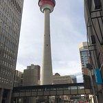 Calgary Tower is across the street