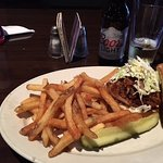 Spirits BBQ pulled pork, coleslaw, french fries