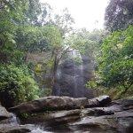 waterfall during thr bike