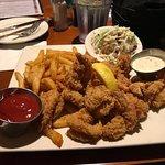 Fried shrimp dinner and chicken roulade: wonderful dinner!