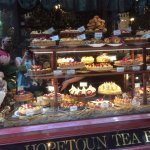 Display window that greets you at Hopetoun Tea Rooms, Melbourne