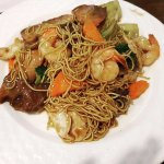 Combination with soft egg noodles