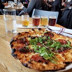 pizza and beer sampler