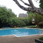 Good pool with a vew of the Sigiriya Rock