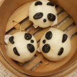 salted egg pao (actually it's sweet), adorable panda, good for kids