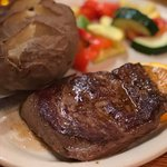 Steak with baked potato