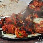 Chicken tikka sizzling platter