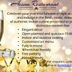 Book your year-end function at Aroma today! Call us on 0114311440.