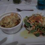 crumble de potiron, heureusement il y a la salade