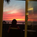 sunset from our room at Carlsbad Seapoint resort