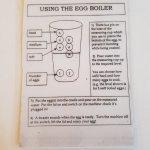 The instructions for using the egg boiler