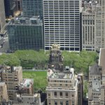 view of Bryant Park from Empire State Building (facing north)