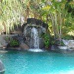 cascade de la piscine